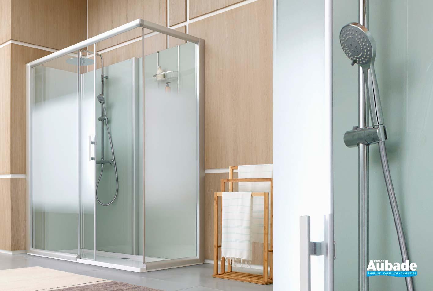 cabine de douche leda access porte coulissante espace aubade. Black Bedroom Furniture Sets. Home Design Ideas