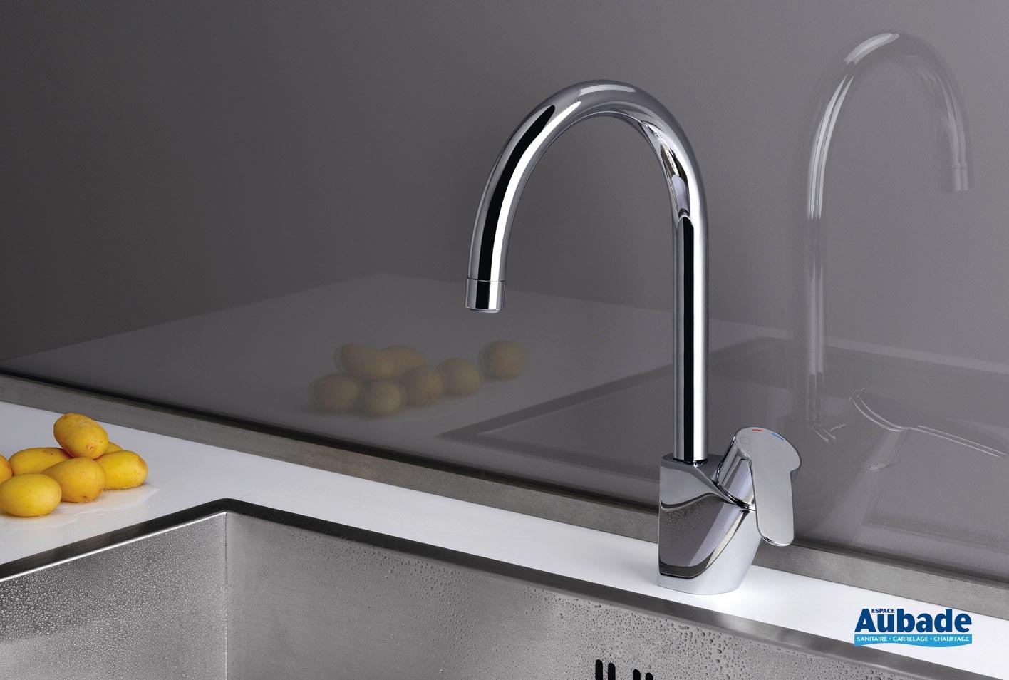 Evier Le Plus Resistant robinet cuisine bec haut cristina new day | espace aubade