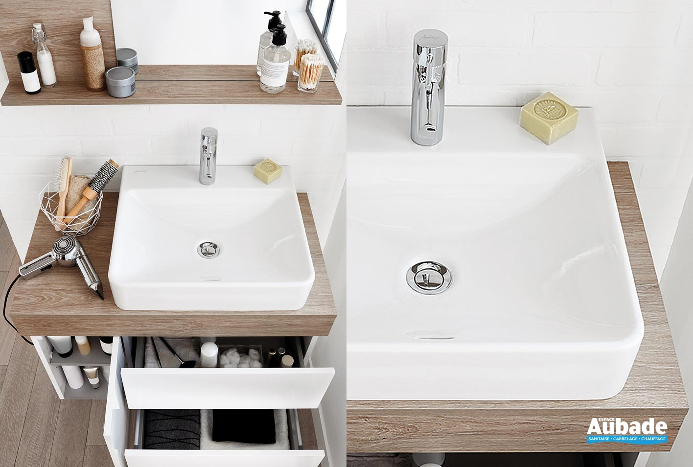 Espace Entre 2 Vasques vasque vox - 20 modèles jacob delafon | espace aubade