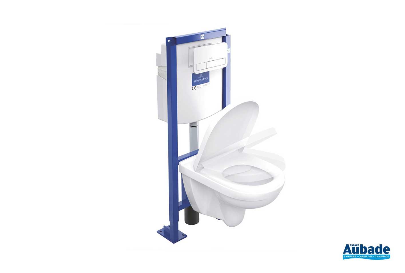 Wc Suspendu 4 Pieds wc suspendu tout en 1 viconnect villeroy & boch | espace aubade