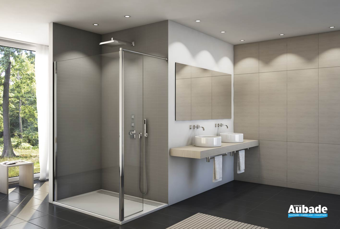 paroi de douche design sanswiss fun espace aubade. Black Bedroom Furniture Sets. Home Design Ideas
