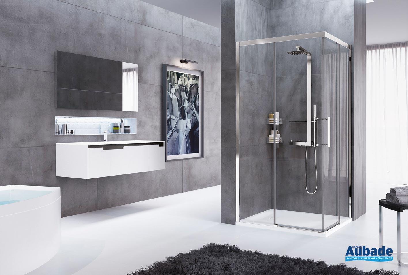 paroi de douche en verre novellini rosse espace aubade. Black Bedroom Furniture Sets. Home Design Ideas
