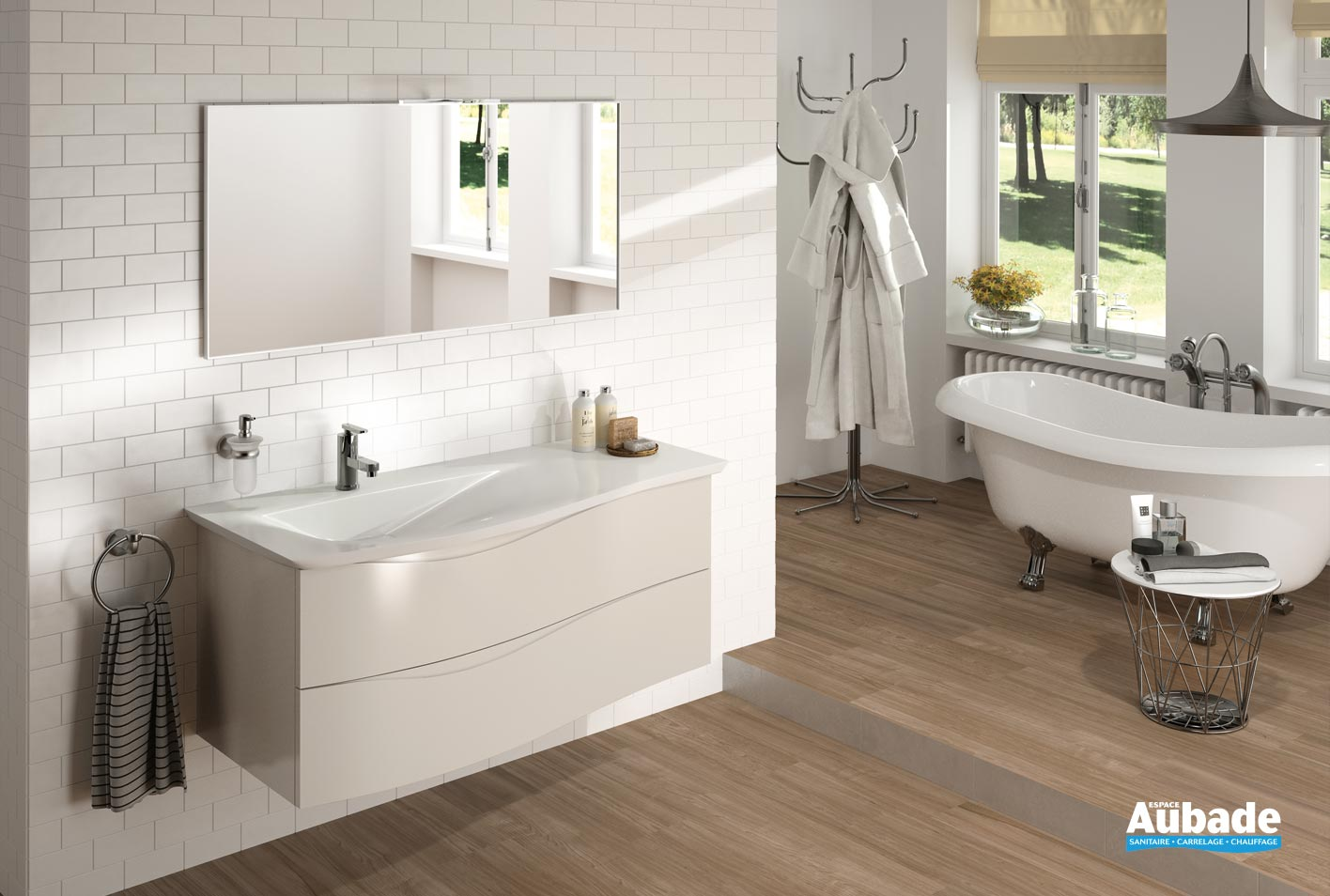 Meubles salle de bains twist cedam espace aubade - Aubade carrelage salle de bain ...