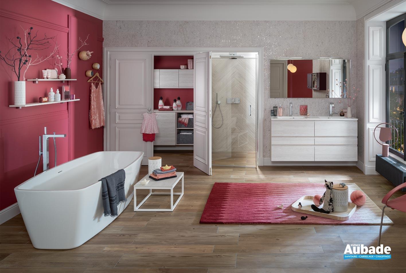 Meubles salle de bains Unique pure 140 cm Delpha   Espace Aubade