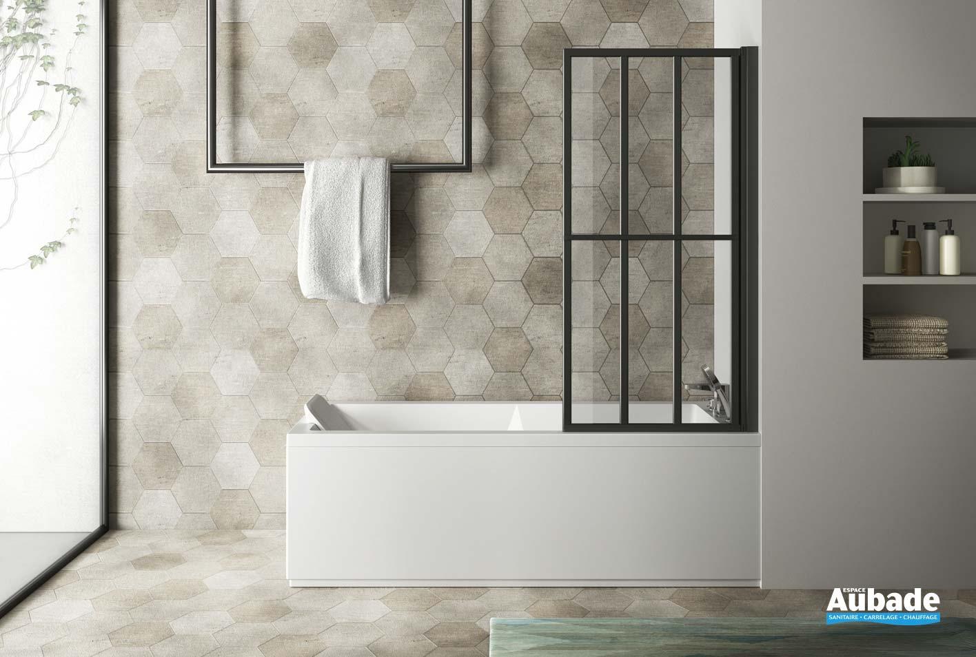 Poser Une Baignoire Avec Rebord pare-baignoire loft screen de la marque jacuzzi