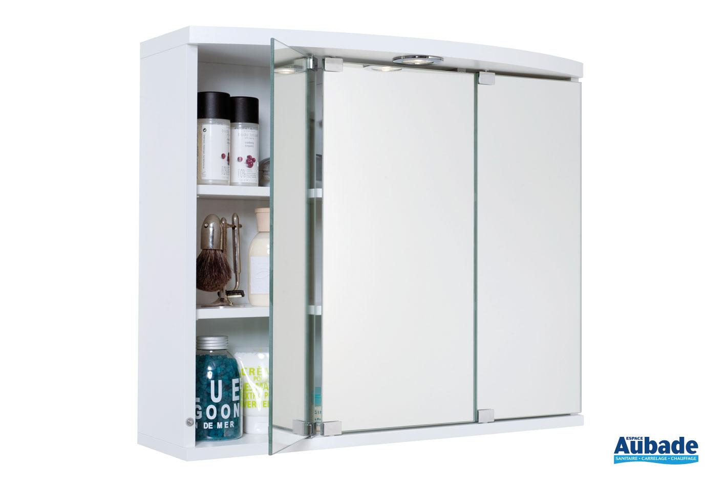 Hauteur Armoire De Toilette armoire de toilette miroir 3 portes decotec | espace aubade