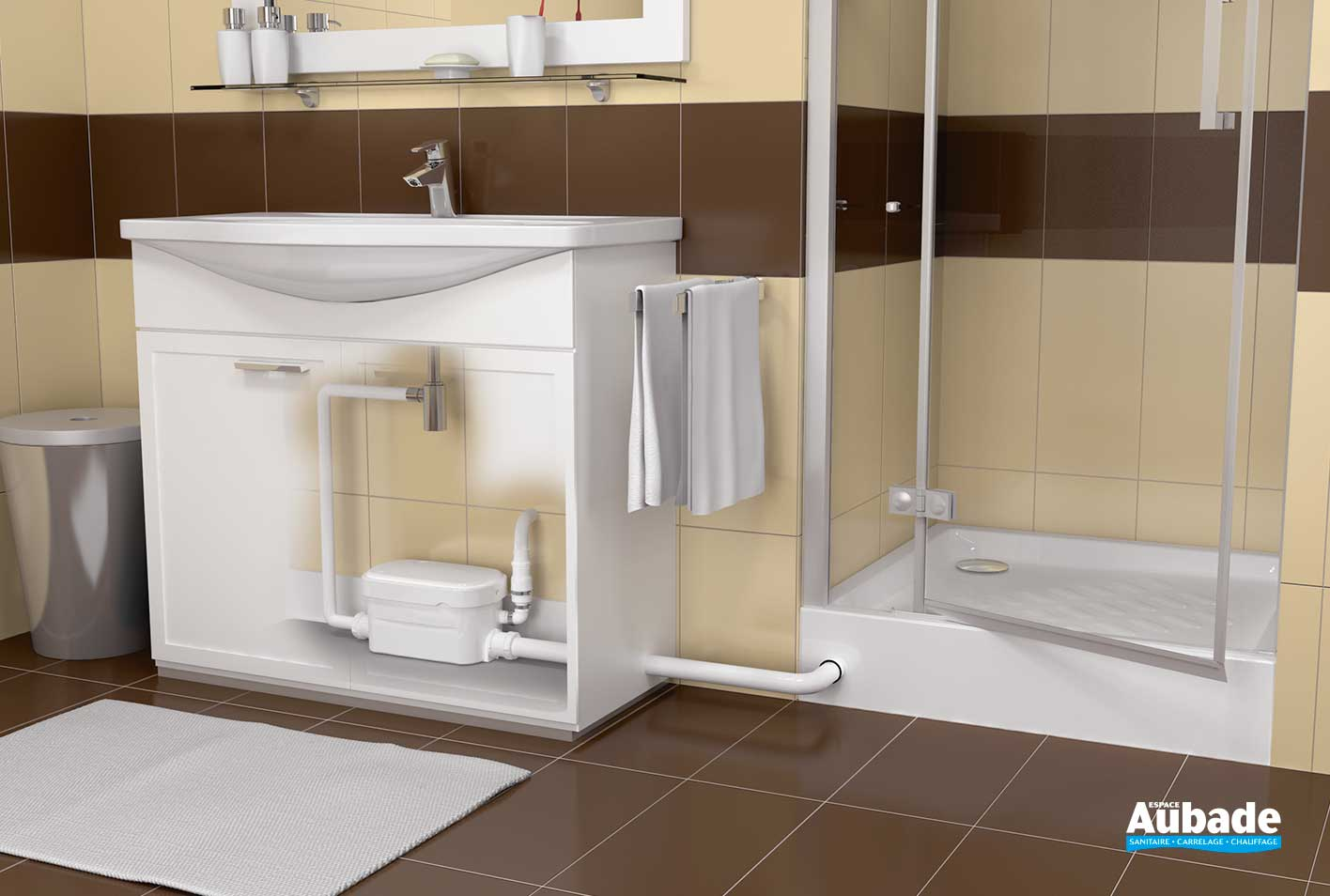 Pompe relevage douche lavabo Watermatic VD19  Espace Aubade