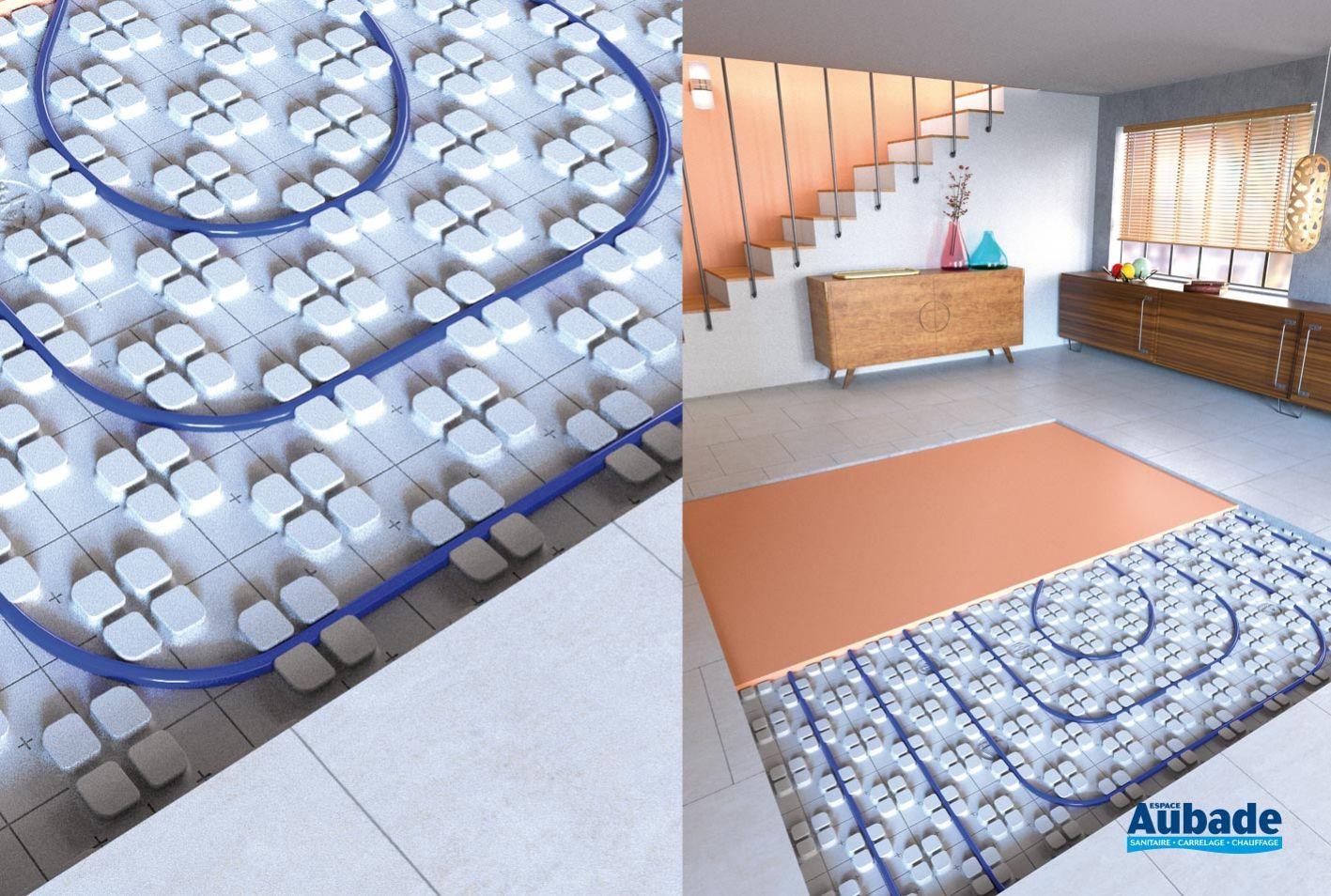 Carrelage Sur Plancher Chauffant Basse Temperature sol chauffant thermactif de thermacome   espace aubade