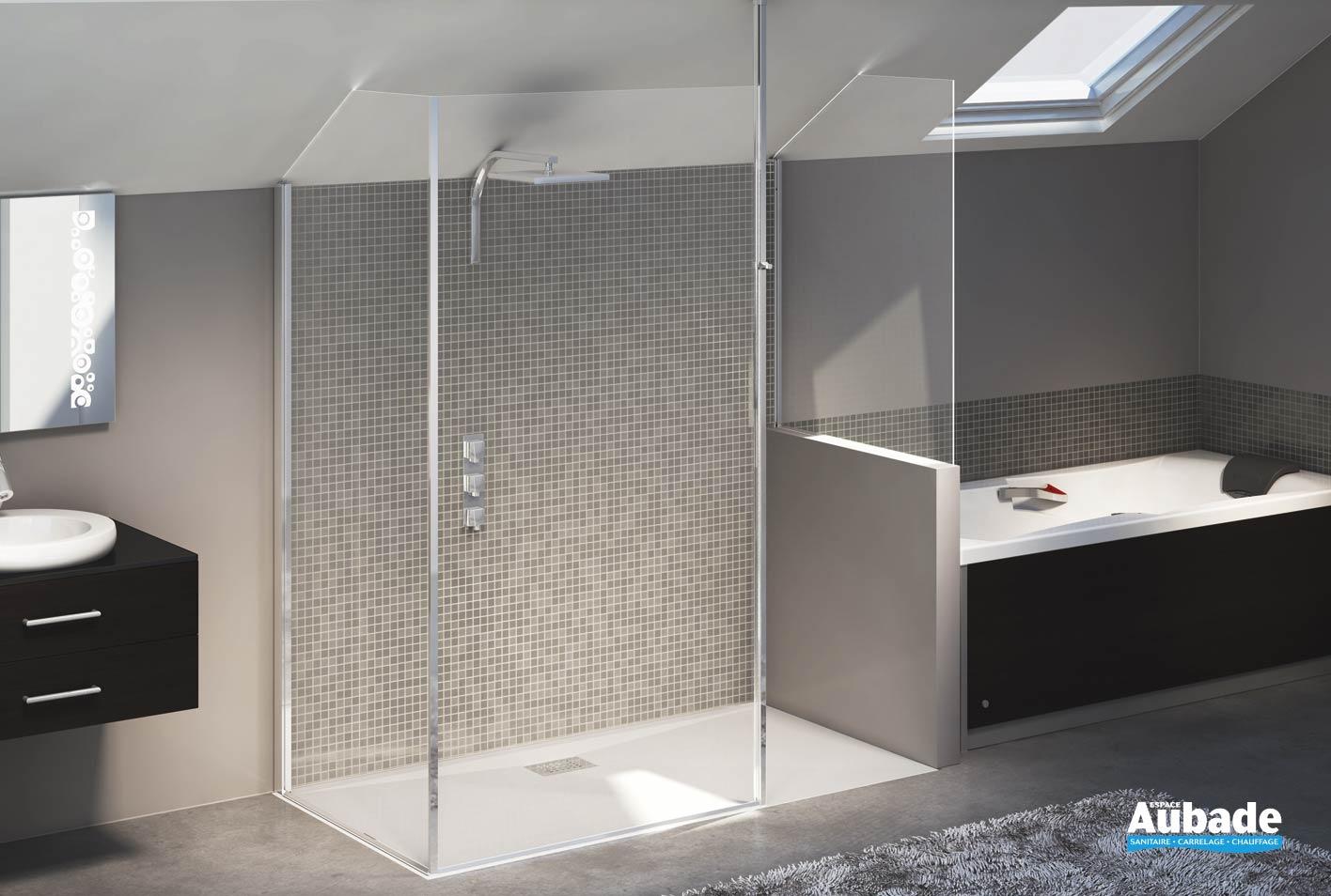 paroi de douche sur mesure kinedo espace aubade. Black Bedroom Furniture Sets. Home Design Ideas