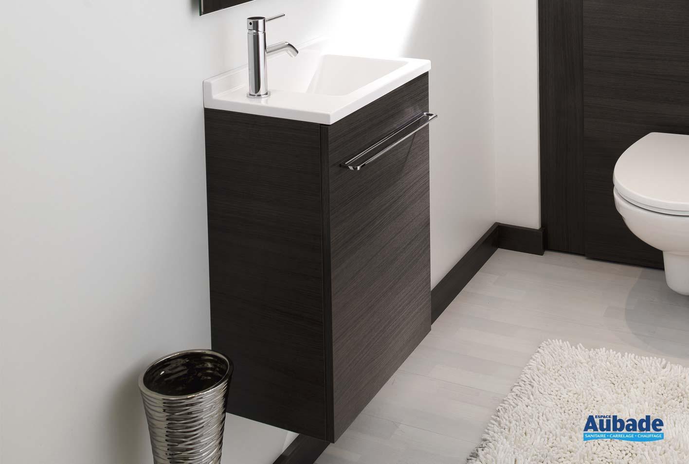 Comment Installer Un Lave Main Avec Meuble meuble lave-mains wc ambiance bain verso | espace aubade