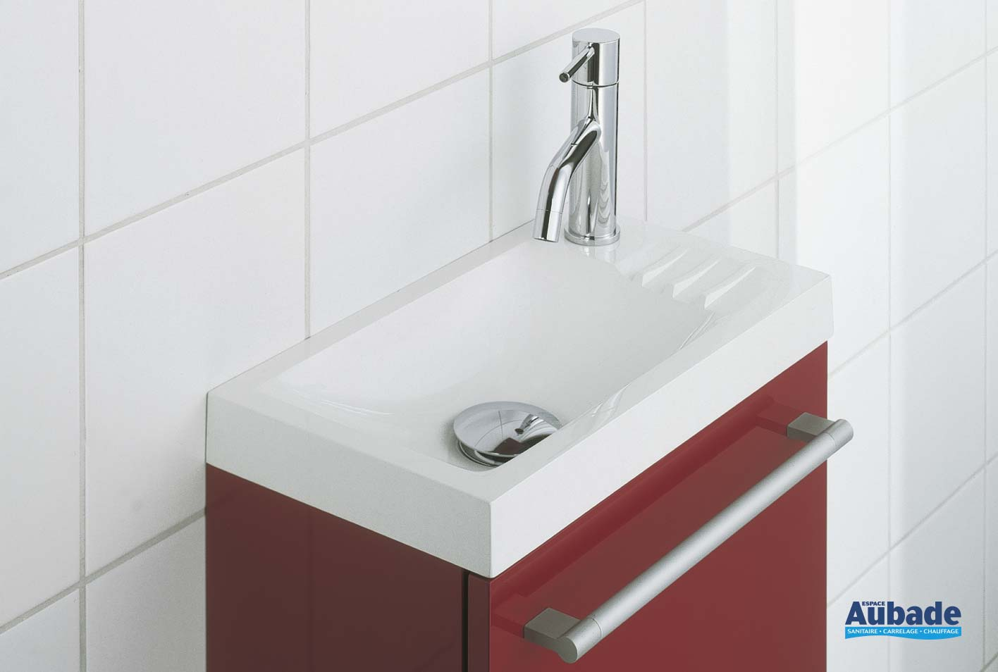 Comment Installer Un Lave Main Avec Meuble petit lave-mains decotec sucre | espace aubade