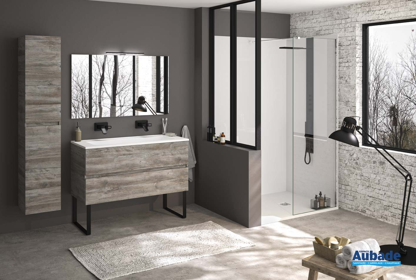Espace Salle De Bain meuble salle de bain ambiance bain ketty | espace aubade