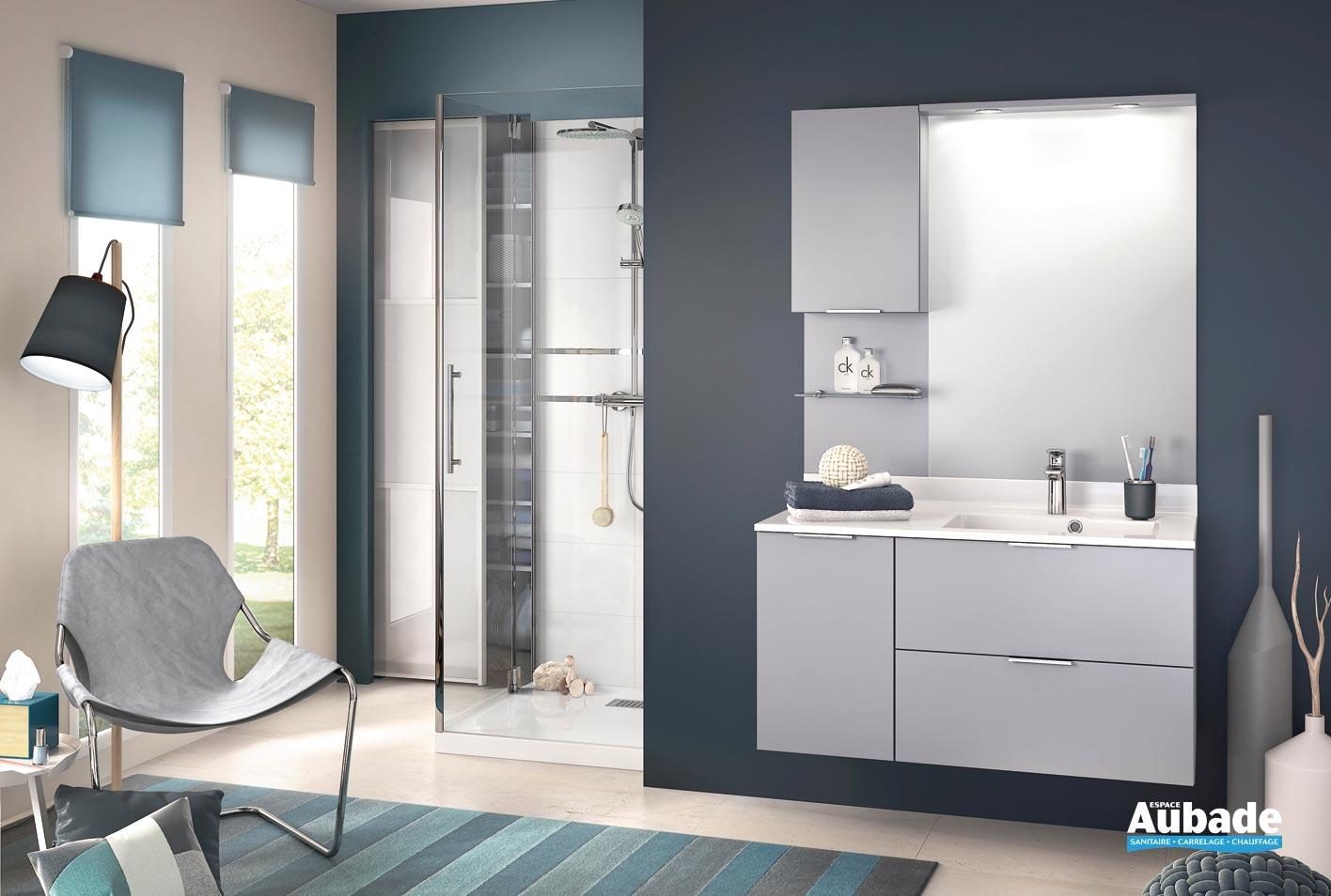 Meuble Haut Salle De Bain Avec Miroir meuble salle de bain delpha evolution e105mmd | espace aubade