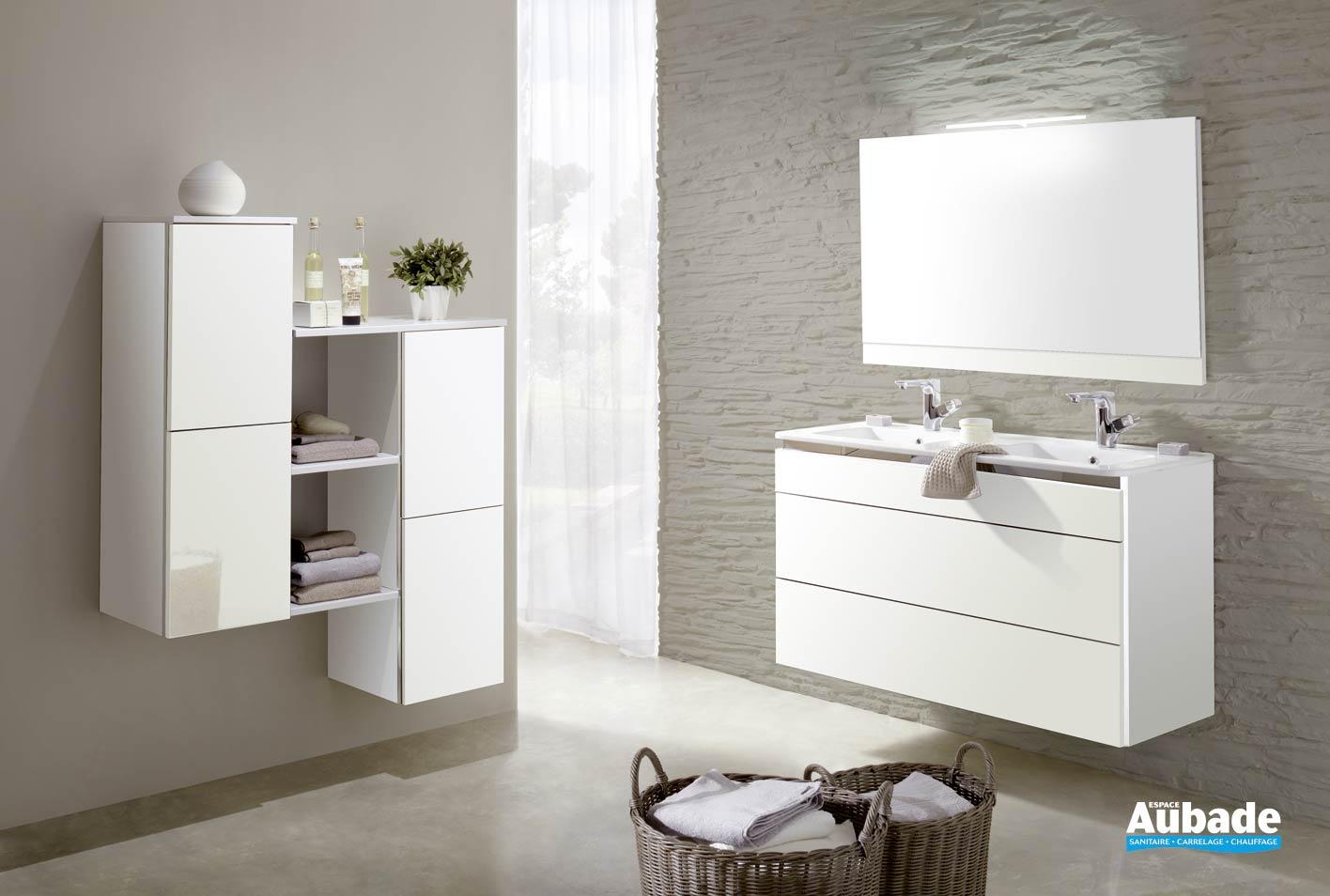 Meuble de salle de bain gain de place Lido Céram  Espace Aubade