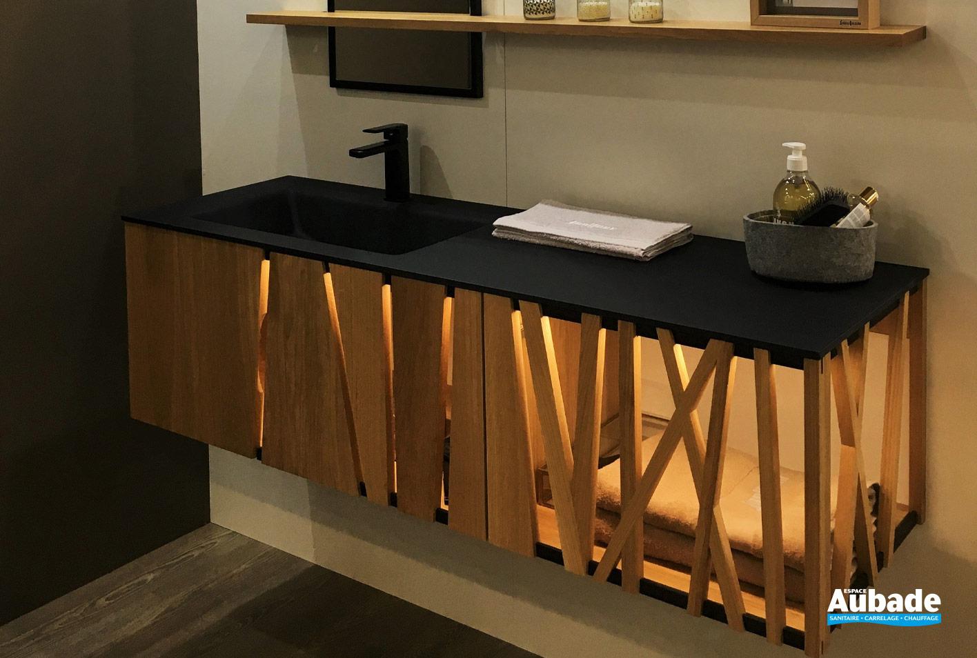 Salle De Bain Halo meuble salle de bains design en bois massif colombine par