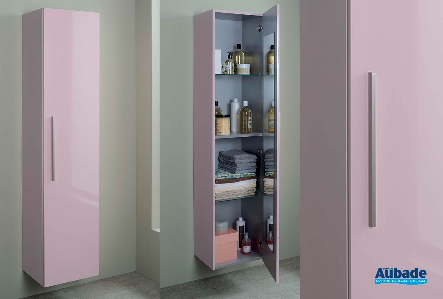 Salle De Bain Halo colonne salle de bain elemento sanijura | espace aubade
