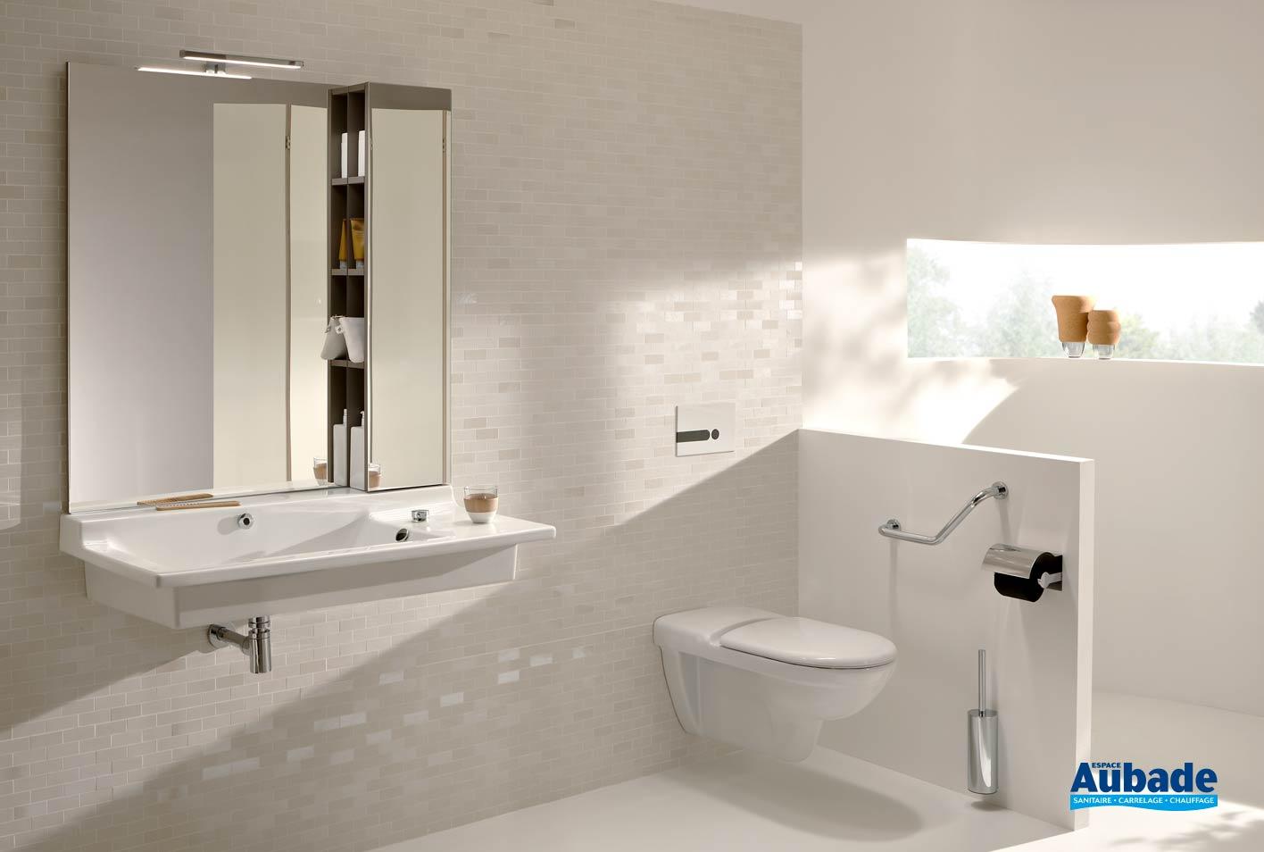 Reparer Eclat Carrelage Blanc aide à la mobilité réduite plan-vasque soprano pmr jacob
