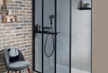 paroi douche nouvelle vague style industriel espace aubade. Black Bedroom Furniture Sets. Home Design Ideas