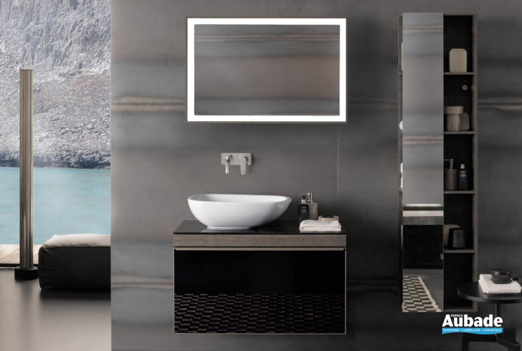 salle de bains beige haut de gamme Antonio Citterio Allia