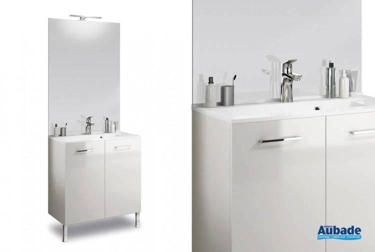 Meuble sous vasque monobloc delpha deco pml70 espace aubade - Meuble salle de bain delpha ...