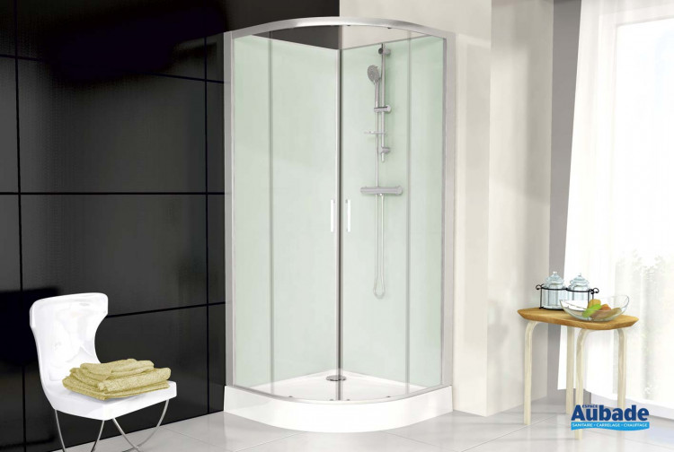 cabine de douche 1 4 de rond leda corail 3 espace aubade. Black Bedroom Furniture Sets. Home Design Ideas