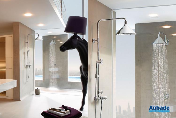 Showerpipe avec mitigeur thermostatique, douche de tête 2jet 240 mm et douchette 1jet Axor