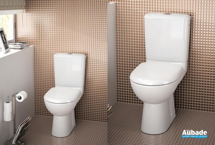 Pack wc au sol Prima 6 Rimfree blanc par Allia