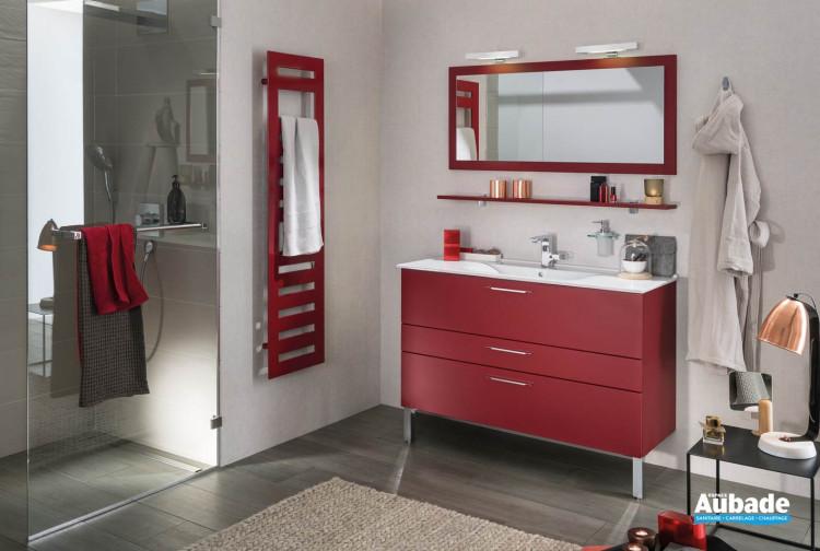meubles de salle de bains Delpha collection Unique modèle 123 cm verre