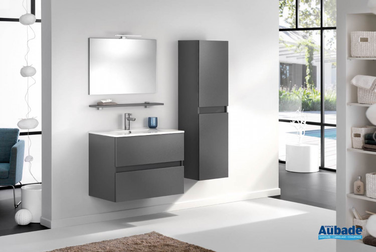 Meubles salle de bains blanc satiné D-Motion L80 cm | Espace Aubade