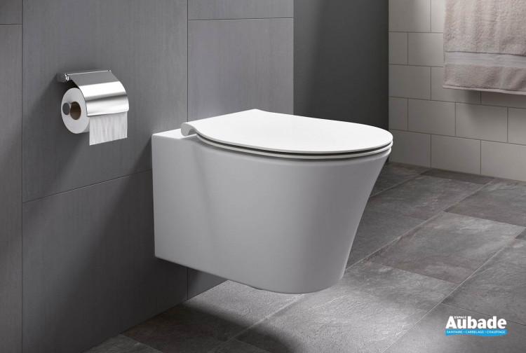Cuvette WC suspendue Amazi en porcelaine vitrifiée de la marque Ideal Standard