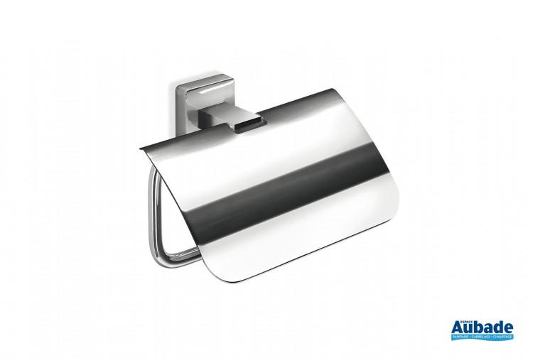 Porte-rouleau avec couvercle chromé Cubo de la marque Inda