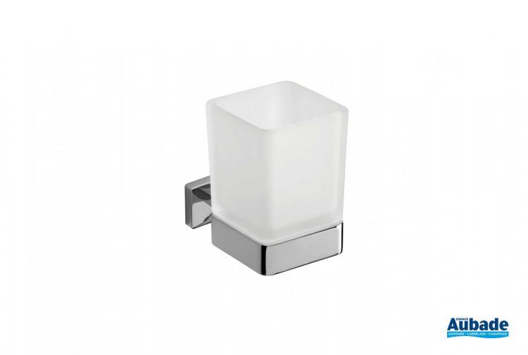 accessoires de toilette Inda Porte-verre brosse à dents Cubo
