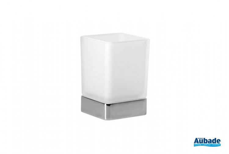 accessoires de toilette Inda modèle porte verre cubo