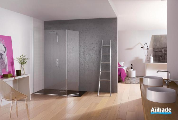 paroi de douche ouverte kinedo kinespace espace aubade. Black Bedroom Furniture Sets. Home Design Ideas