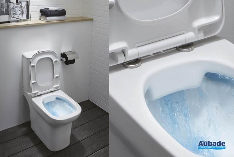 Pack WC sur pied Vox sans bride blanc de Jacob Delafon
