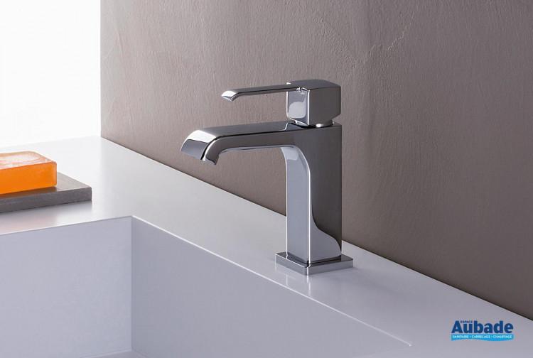Mitigeur pour lavabo sans vidage Quadrata finition chromée de Cristina