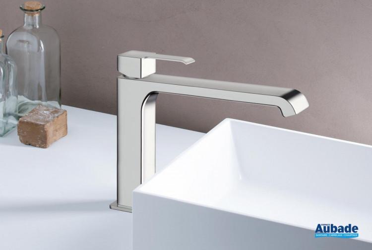 Mitigeur lavabo medium sans vidage Quadrata finition chromée de Cristina