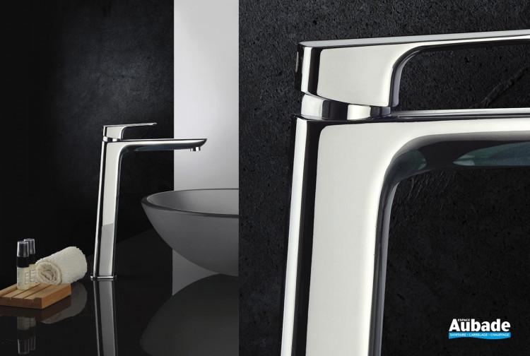 Mitigeur lavabo rehaussé avec vidage New-York chromé par Païni