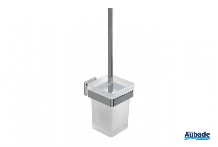 Porte-balayette chromé à fixer Cubo de la marque Inda