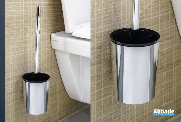 Porte-balai wc avec balai chromé à fixer Clivia par Vigour