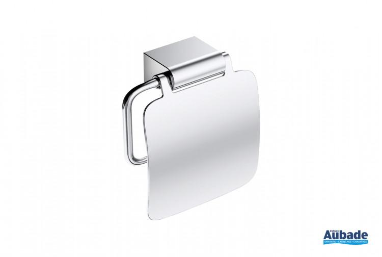 Dérouleur à papier toilette avec couvercle finition chromé à fixer Clivia par Vigour