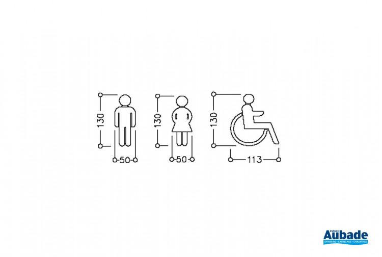 Accessoires PMR Normbau Pictogramme WC