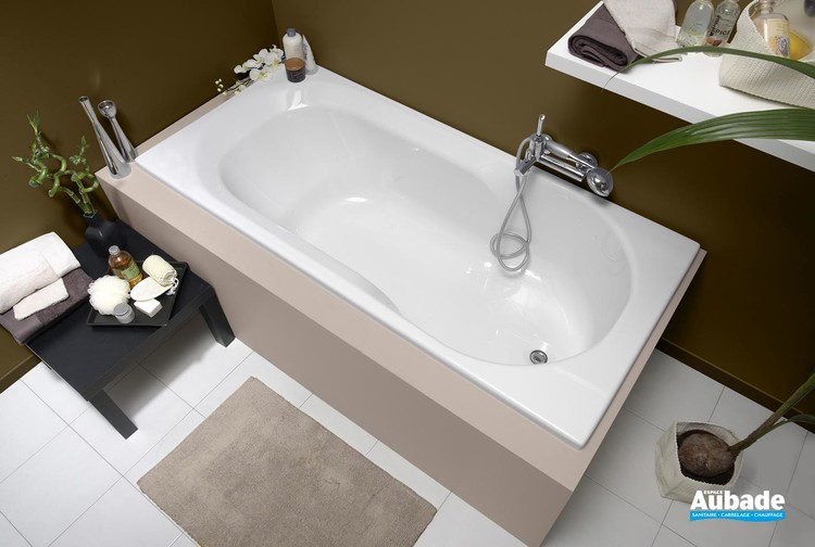 Baignoire bain-douche rectangulaire Twinside