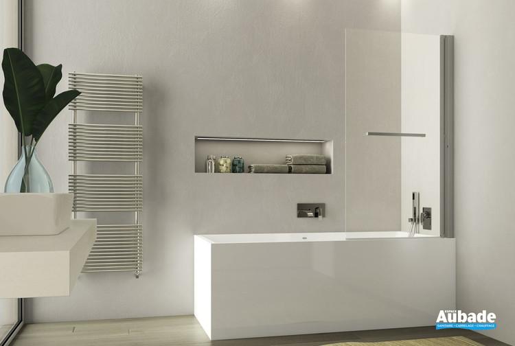Pare-bain pivotant et relevable Lobby en verre sans encadrement par Jacuzzi