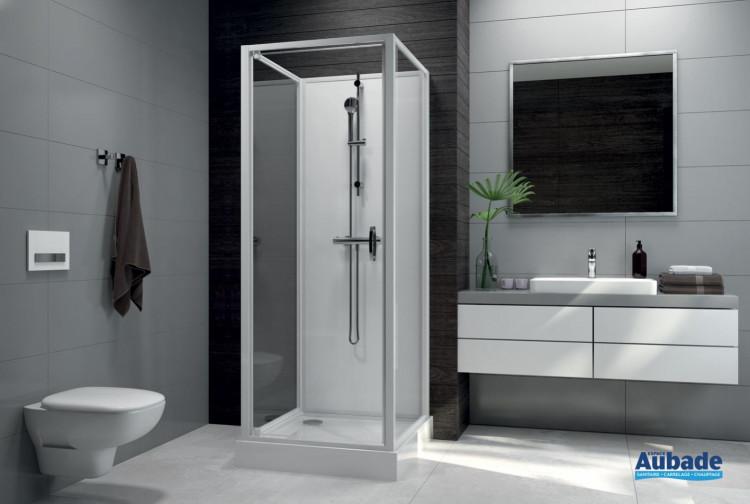 Cabines de douche intégrales Leda Sélection Aubade verre 80 x 80 cm