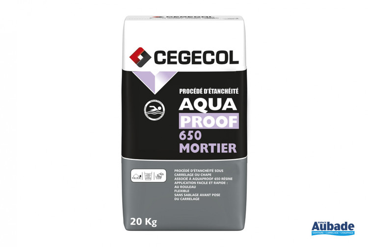 carrelage mise en oeuvre cegecol aquaproof 650