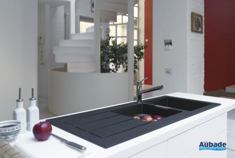 Évier de cuisine design 2 bacs Sirius Tectonite Franke | Espace Aubade