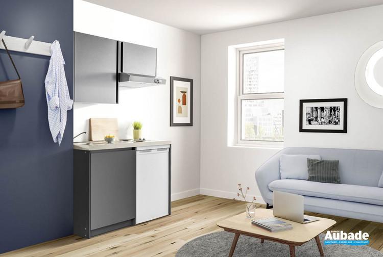 Cuisinette mélaminé coloris gris anthracite Urban de Moderna