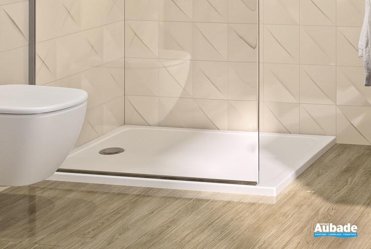 Receveurs de douche Velours Evolution en céramique blanc mat de la marque Ideal Standard