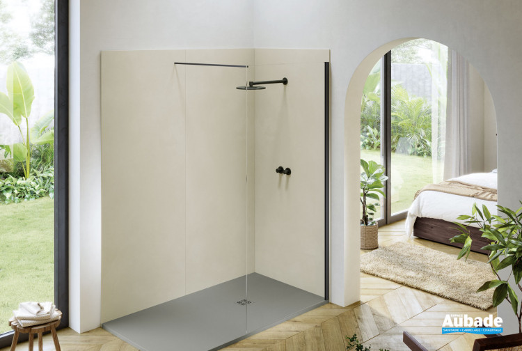 Panneaux muraux pour douche à l'italienne Compact finition EPUR Beige de la marque Acquabella